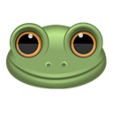 frog, Animal Black icon