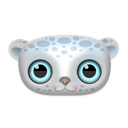 Animal, Snow, leopard Black icon