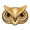 Animal, owl, bird Black icon