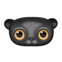 Animal, leopard, Black Black icon