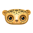 Animal, leopard Black icon