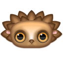 hedgehog, Animal Black icon