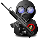 soldier, Gas, weapon, with Black icon