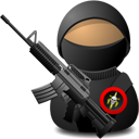 weapon, with, elite, soldier DarkSlateGray icon