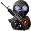 Gas, soldier, weapon, with DarkSlateGray icon