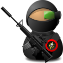 weapon, sniper, soldier, with Black icon