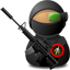 weapon, with, soldier, sniper DarkSlateGray icon