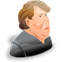 profile, leader, member, merkel, person, angela, Account, Cartoon, people, male, Man, user, Human Black icon