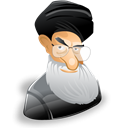 leader, member, profile, khamenei, Cartoon, people, male, ayatollah, person, user, Ali, Account, Man, Human Black icon