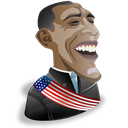 leader, barak, people, Man, Human, profile, male, member, user, person, Cartoon, Account, obama Black icon