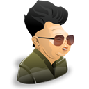 Human, people, Man, person, member, user, male, Cartoon, Account, yongii, kim, leader, profile Black icon