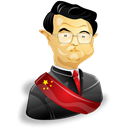 person, Man, user, jintao, people, Human, Cartoon, male, Account, member, profile, leader Black icon