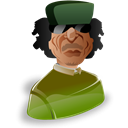 people, member, profile, male, leader, muammar, gadhafi, Man, Human, person, Account, user, Cartoon Black icon