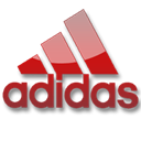 red, Adidas Black icon