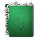 Money, Dollar, Cash, coin, Folder, Currency SeaGreen icon