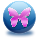 butterfly MidnightBlue icon