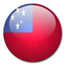 flag, samoa, Country Firebrick icon