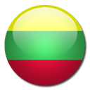 Country, flag, Lithuania Black icon