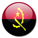 Country, Angola, flag Black icon