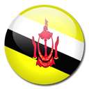 Brunei, flag, Country Black icon