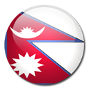 Country, flag, Nepal Black icon
