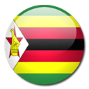 flag, Zimbabwe, Country Black icon