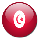flag, Tunisia, Country Firebrick icon