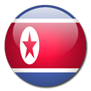 Korea, Country, north, flag Black icon