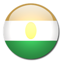 Country, flag, Niger SeaGreen icon