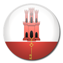 flag, Gibraltar, Country Black icon