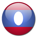 Laos, Country, flag Black icon
