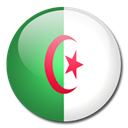 Algeria, Country, flag Black icon