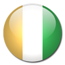 Country, Cote, ivoire, flag Black icon