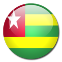 Togo, Country, flag Black icon