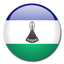 Lesotho, flag, Country Black icon