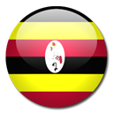 flag, Country, Uganda Black icon