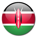 Country, flag, kenya Black icon