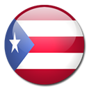 Puerto, Country, rico, flag Black icon