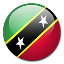 saint, And, kitts, flag, nevis, Country Black icon