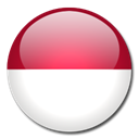 Indonesia, Country, flag Black icon