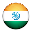 India, flag, Country Black icon