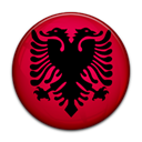 Albania, flag, Country Black icon