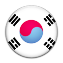 Korea, flag, south, Country Black icon