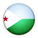 Djibouti, Country, flag Black icon