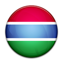 Gambia, flag, Country Black icon