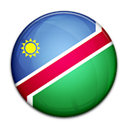 Namibia, flag, Country Black icon