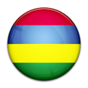 Mauritius, Country, flag Black icon