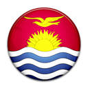 Kiribati, flag, Country Black icon
