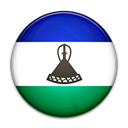 Country, Lesotho, flag Black icon