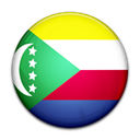 Comoros, flag, Country Black icon